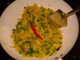 Pikantní hrášková rýže recept