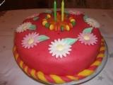 Můj první potahovaný dort recept