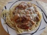 Špagetová hnízda s kuřecí směsí recept