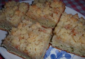 Cuketovo-kokosový koláč s ovocem a žmolenkou