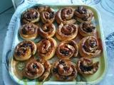 Rozinkovo-ořechové šneky recept
