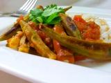 Pečená okra s rajčatovou omáčkou recept