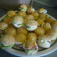 Plněné slané minihamburgery recept
