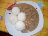 Vepřové maso se žampiony a rýží recept