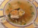 Kuřecí polévka s kukuřicí a nivou recept