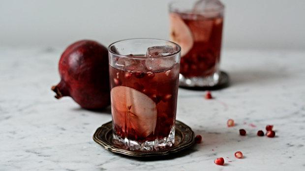 Cider s granátovým jablkem
