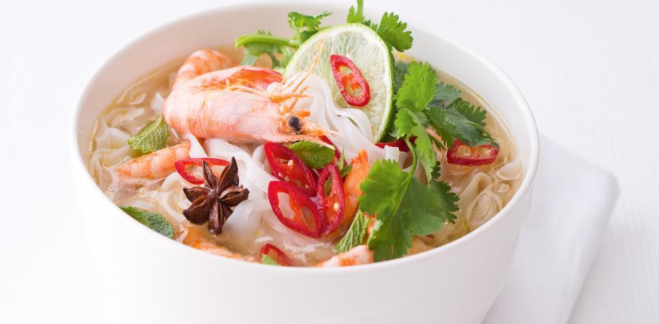 Thajská krevetová polévka