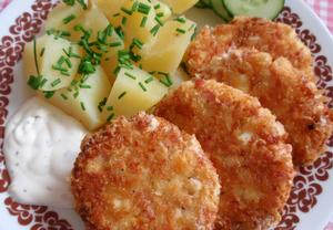 Vaječné placičky se sýrem a šunkou
