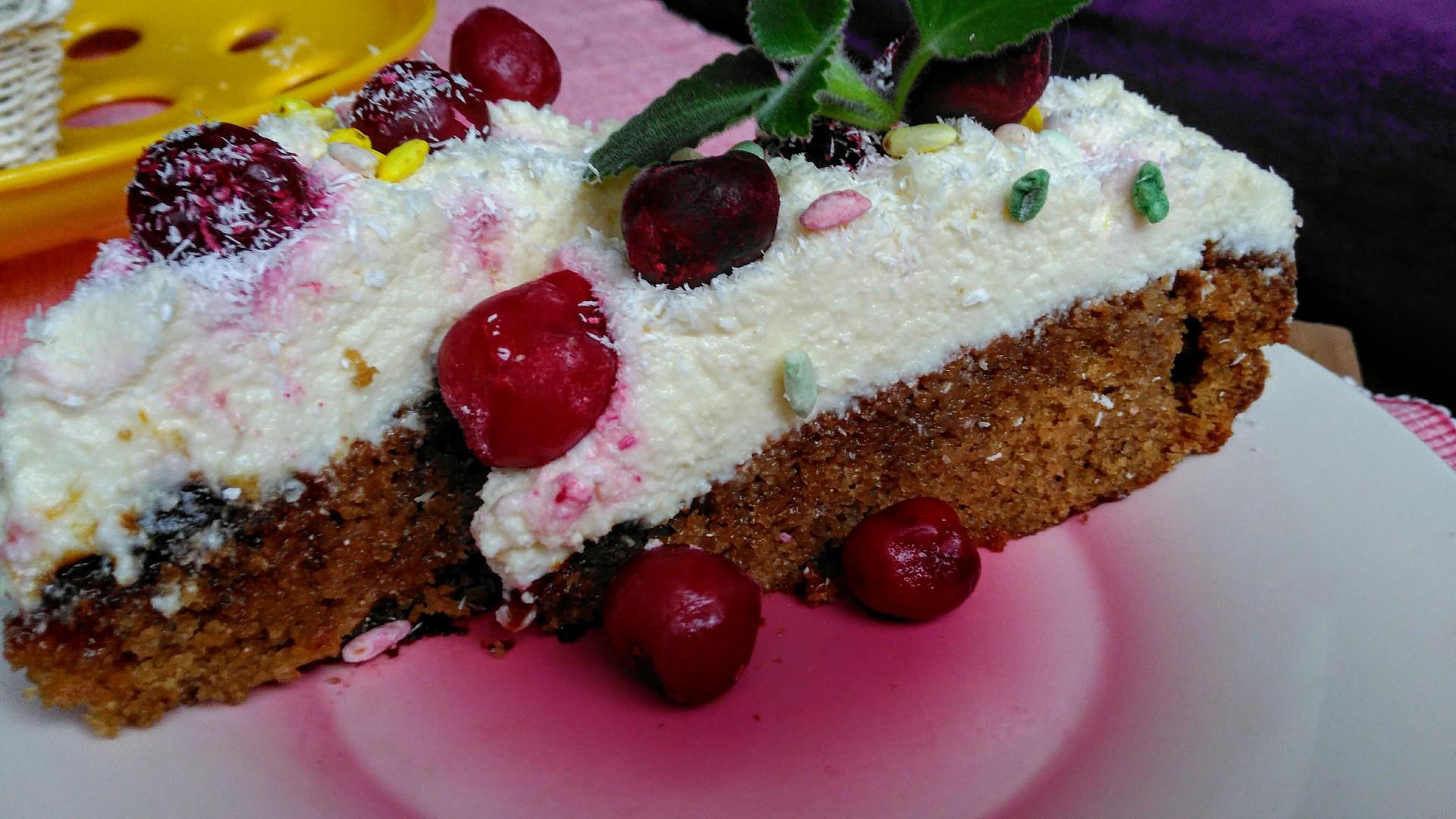 Čajový dort s tvarohovým krémem a višněmi recept