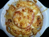 Zapečené brambory s uzeným a cottage sýrem recept