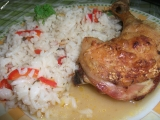 Zeleninová rýže s kuřetem pečené v troubě recept