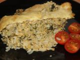 Zapečené rizoto s lososem a špenátem recept