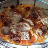 Vepřová plec na zelenině recept