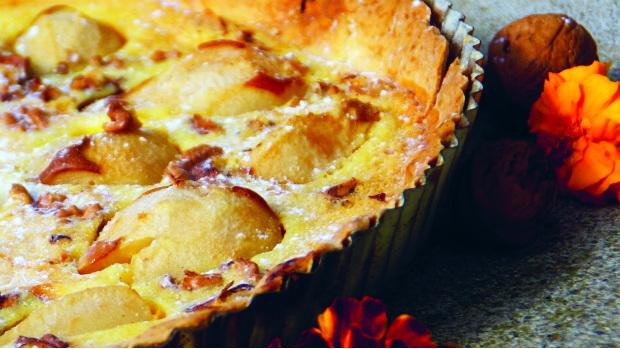 Lahodný hruškový koláč s mascarpone