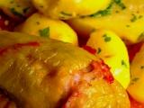 Plněné pečené papriky ve vlastní šťávě recept