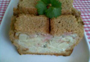 Květákovo-toustový chlebíček
