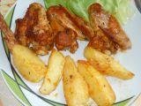 Kuřecí křídla v pečícím sáčku s bramborami recept