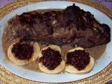 Kančí hřbet s brusinkami recept