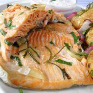 Mořský pstruh pečený na grilu recept