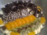 Dia ovocno  tvarohový dort recept