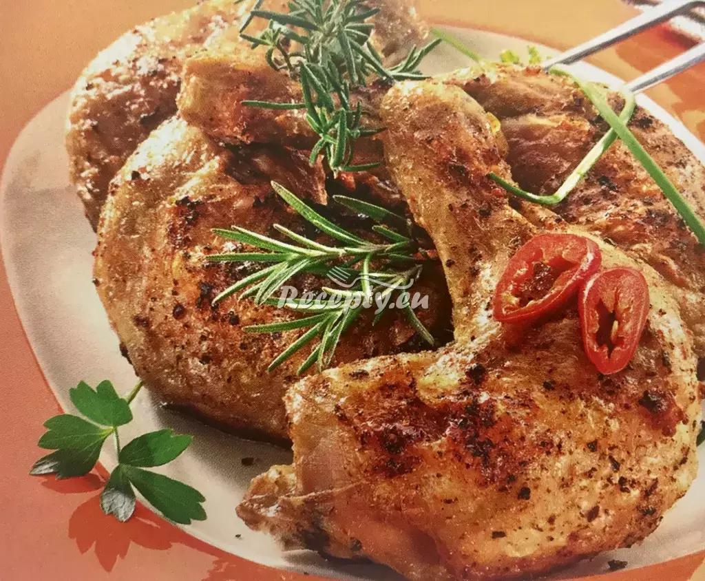 Kuřecí stehna na česneku recept  drůbeží maso
