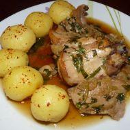 Pečený králík s česnekem a bylinkami recept