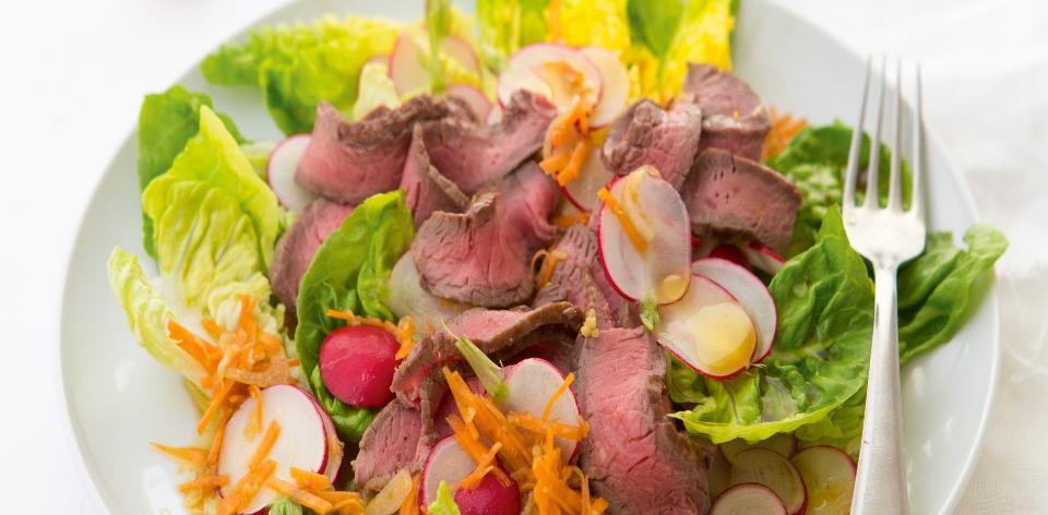Hovězí rumpsteak s japonským salátem