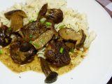 Pečená vepřová líčka s houbami recept