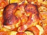Kuřecí stehna na rajčatech a cuketách recept