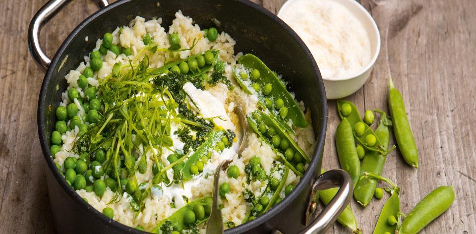 Italské rizoto s hráškem a mátou