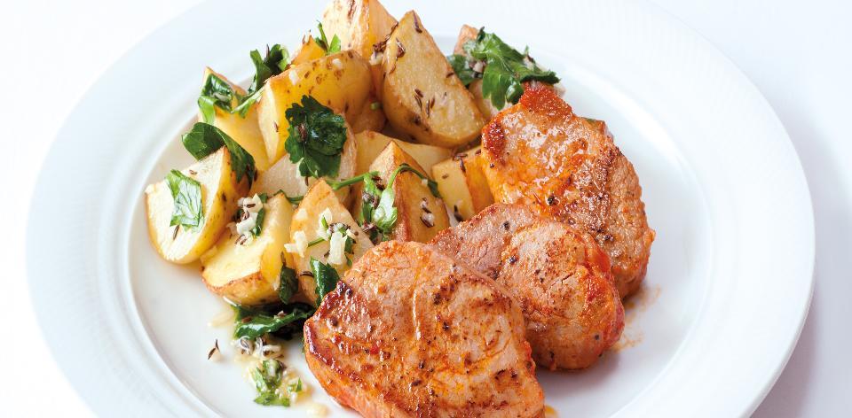 Vepřové medailonky Italia s pečenými brambory