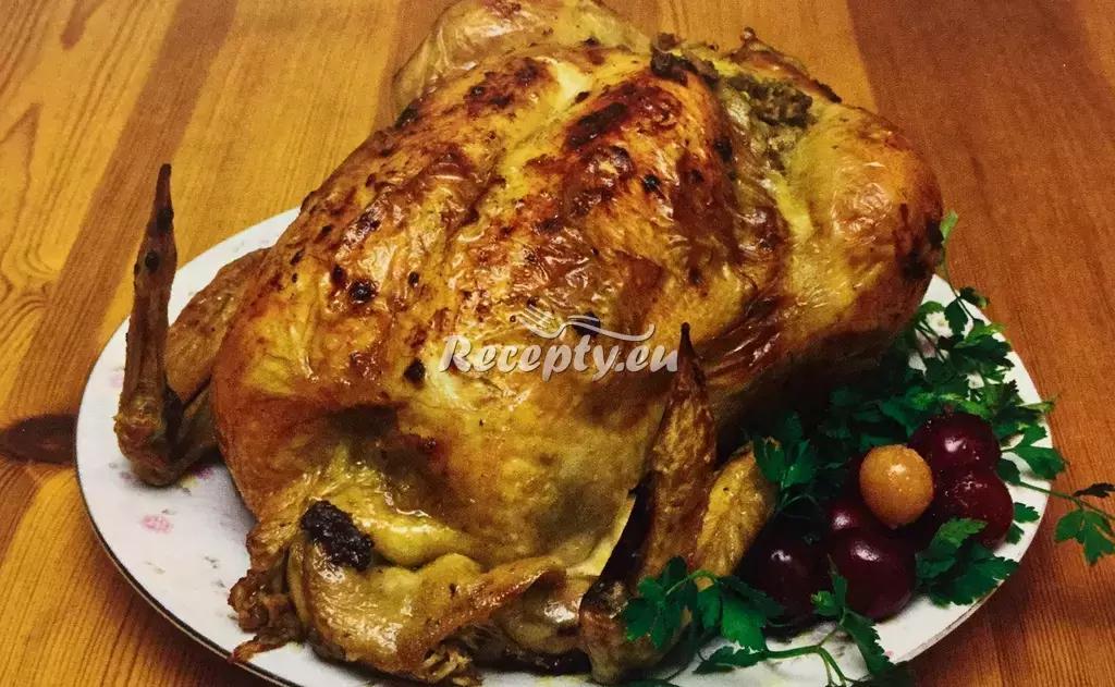Kuře plněné zelím a uzeninou recept  fitness recepty