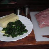 Vepřová roláda se špenátem a sýrem recept