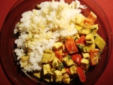 Tofu s kokosovo/kari omáčkou recept