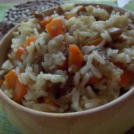 Houbovo-mrkvové rizoto recept