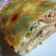 Lasagne s kuřecím masem a špenátem recept