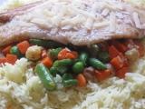 Pangas na jarní zelenince s rýží a parmazánem recept  TopRecepty ...
