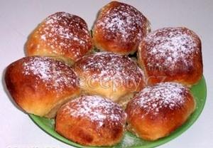 Buchty  těsto z domácí pekárny