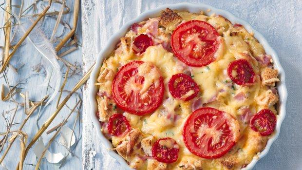 Vajíčkový nákyp s rajčaty