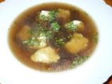 Houbovka s bramborovými noky recept