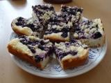 Borůvkový koláč s tvarohem recept