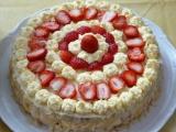 Jahodový slavnostní dort recept