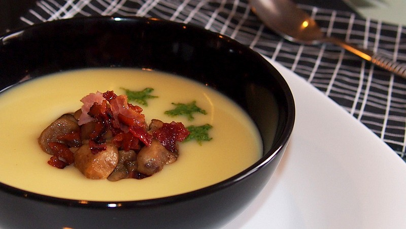Bramborový krém s hříbky recept