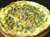 Selská omeleta s hráškem recept