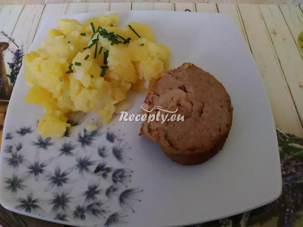 Telecí roláda s mletým masem recept  telecí maso