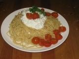 Špagety s ricottou a cherry rajčátky recept