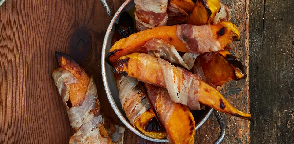 Pečené batáty se slaninou