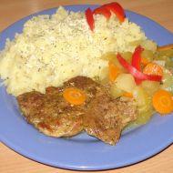 Vepřové na cuketě s mrkví a kedlubnou recept