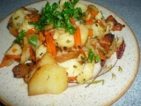 Ryba s bramborami a zeleninkou z remosky recept