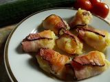 Bramborová kaše pečená ve slanině recept